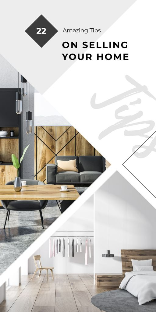 Collage with cozy rooms — Create a Design