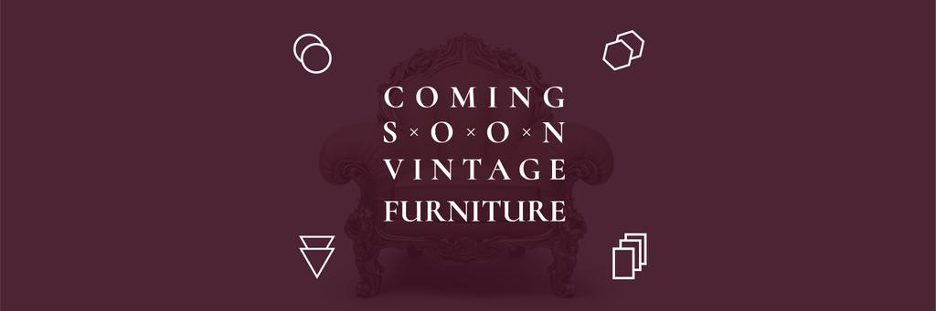 Antique Furniture Ad Luxury Armchair | Twitter Header Template — ein Design erstellen