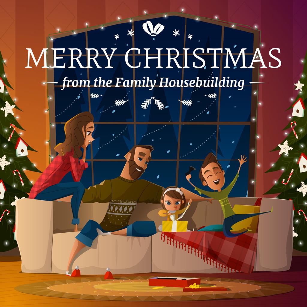Merry Christmas greeting card  — Modelo de projeto