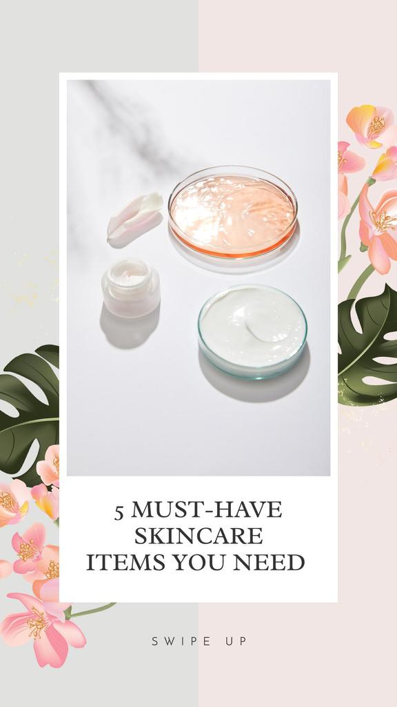 Skincare Items Special Offer Instagram Story Modelo de Design