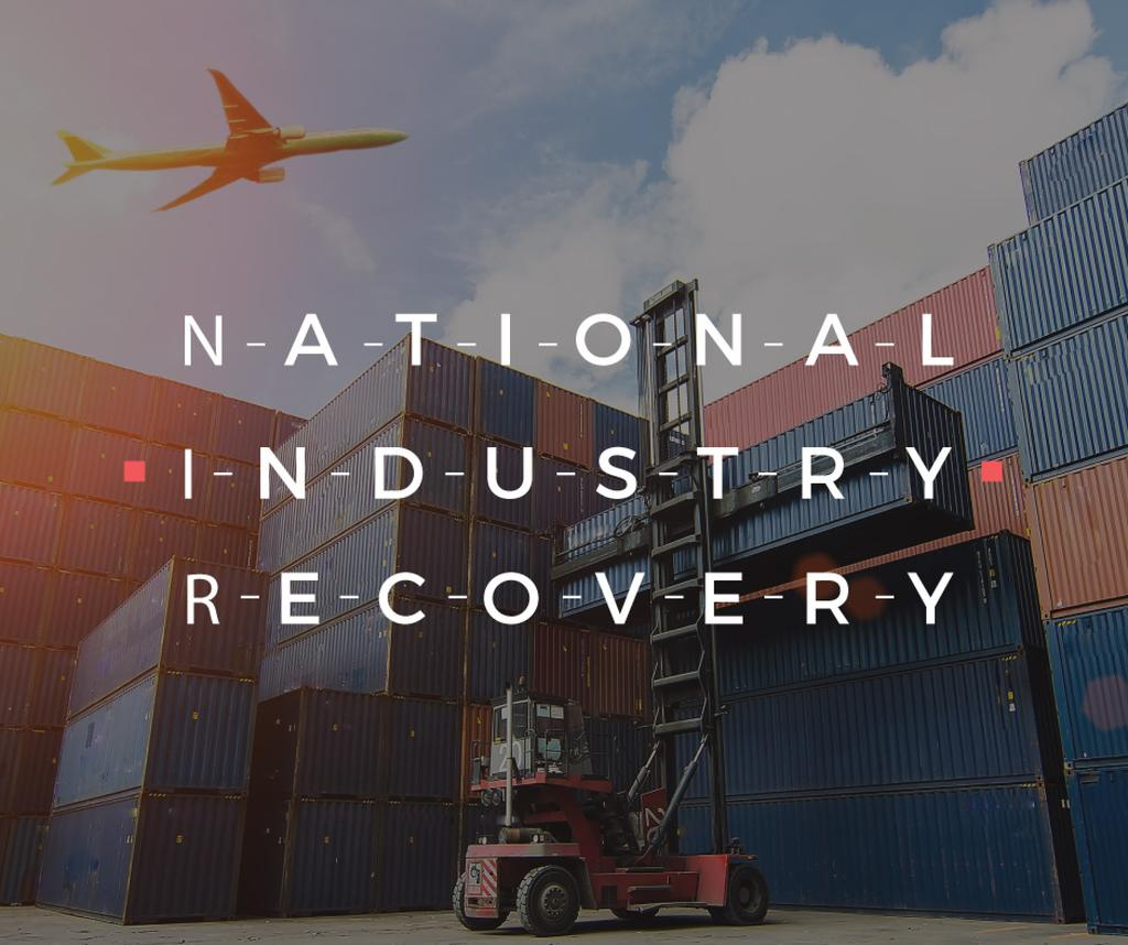 National industry recovery poster — Crea un design