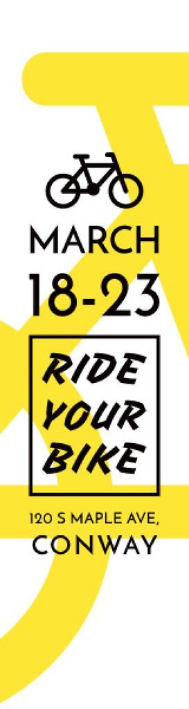 Ride your bike banner — Create a Design