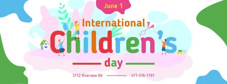 Template di design Kids celebrating Children's Day Facebook cover