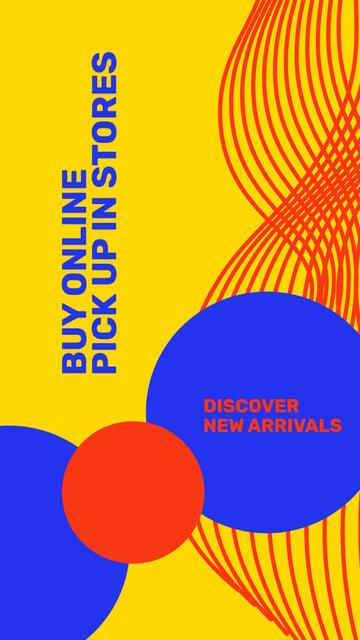 New arrivals Colorful Ad Instagram Story – шаблон для дизайна