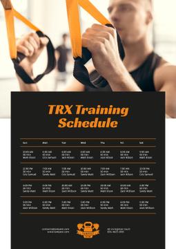 Man Resistance Training in Gym