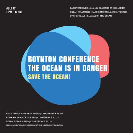 Plantilla de diseño de Eco Conference Announcement on Colourful blots Instagram