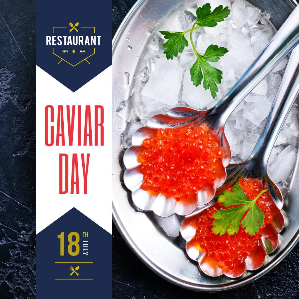 Delicious salmon caviar — Создать дизайн