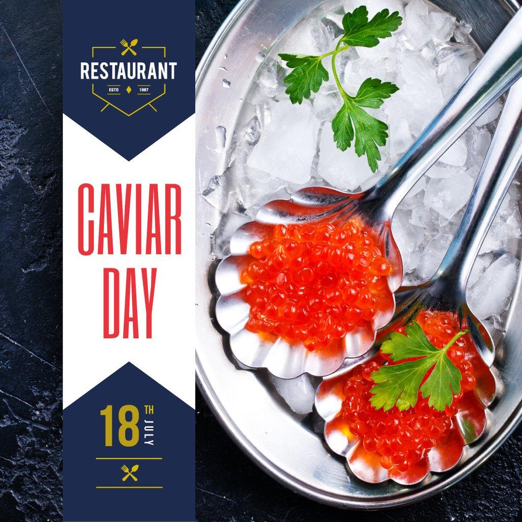 Delicious salmon caviar — Crea un design
