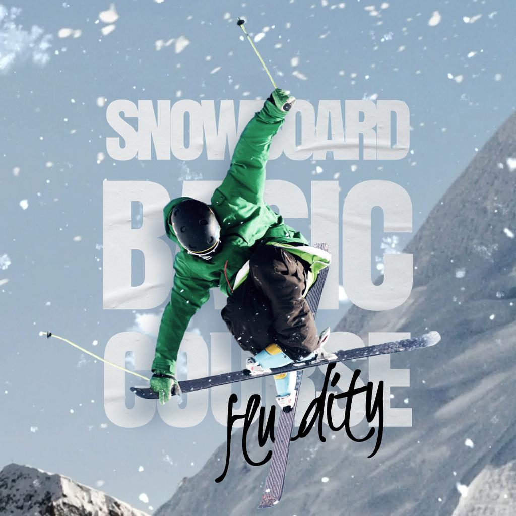 Skier on a Snowy Slope — Crear un diseño