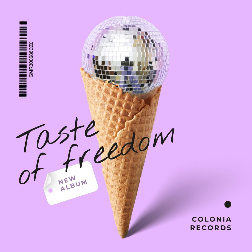 Disco ball in waffle cone — ein Design erstellen