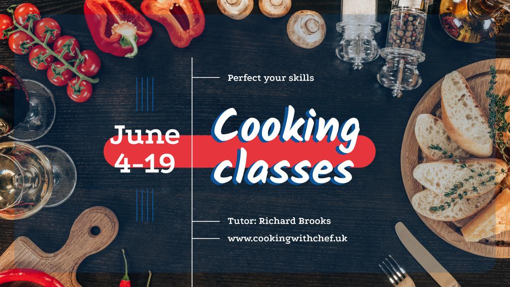 Cooking Italian Food Class Invitation | Facebook Event Cover Template — Modelo de projeto