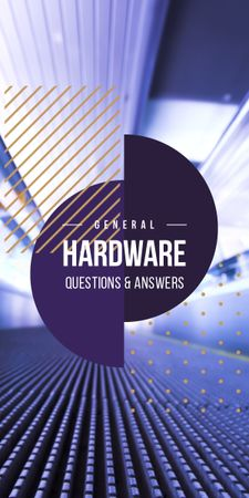 Hardware Guide on Digital background Graphic Modelo de Design