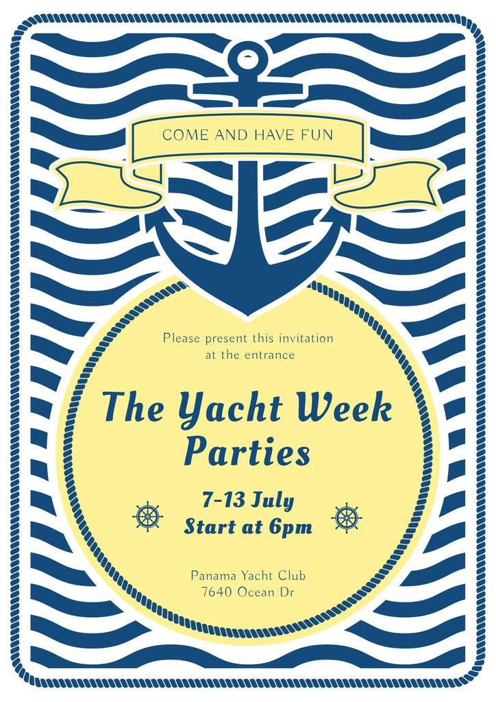 Yacht week parties announcement — Створити дизайн