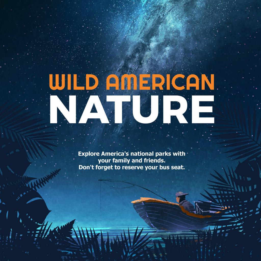 Wild american nature night Forest — ein Design erstellen