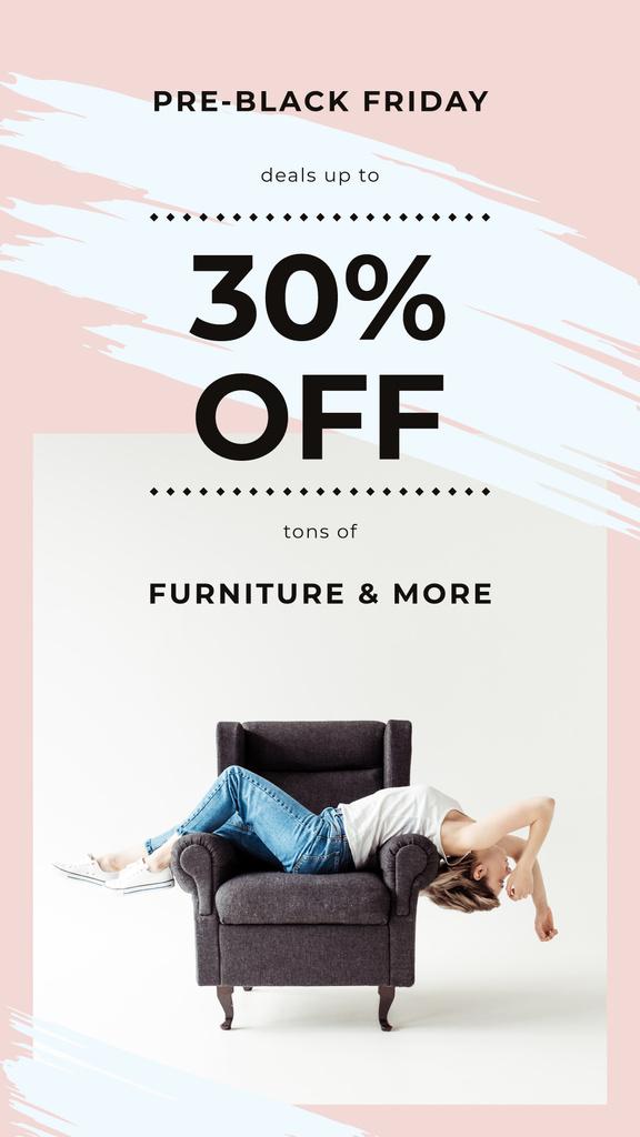 Girl resting on armchair — ein Design erstellen
