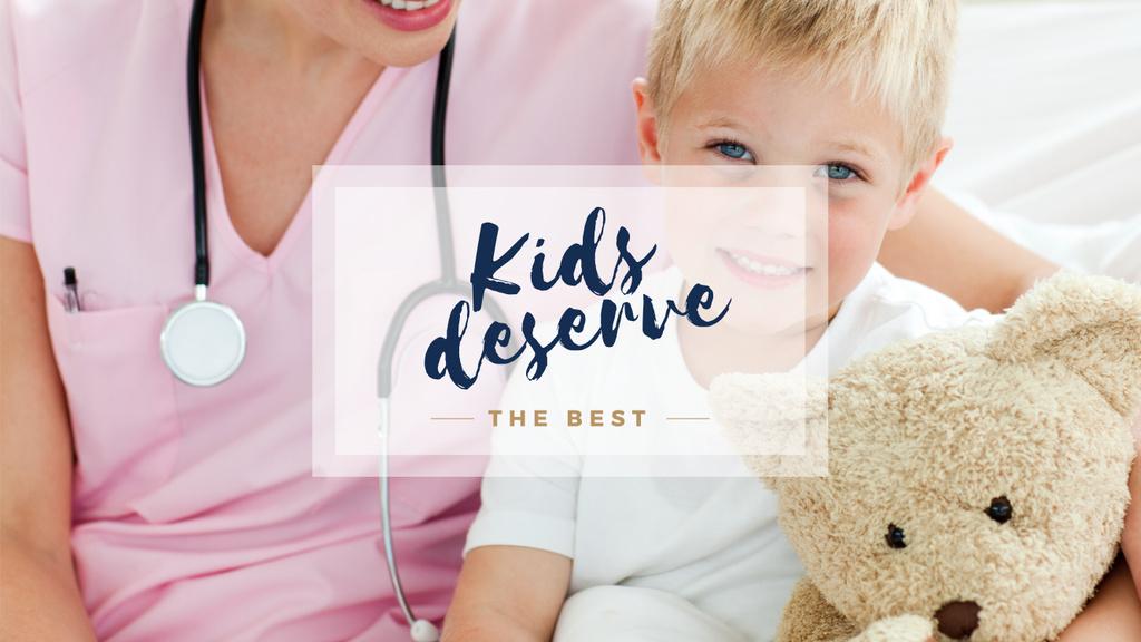 Kids Healthcare Pediatrician Examining Child | Youtube Channel Art — Crear un diseño