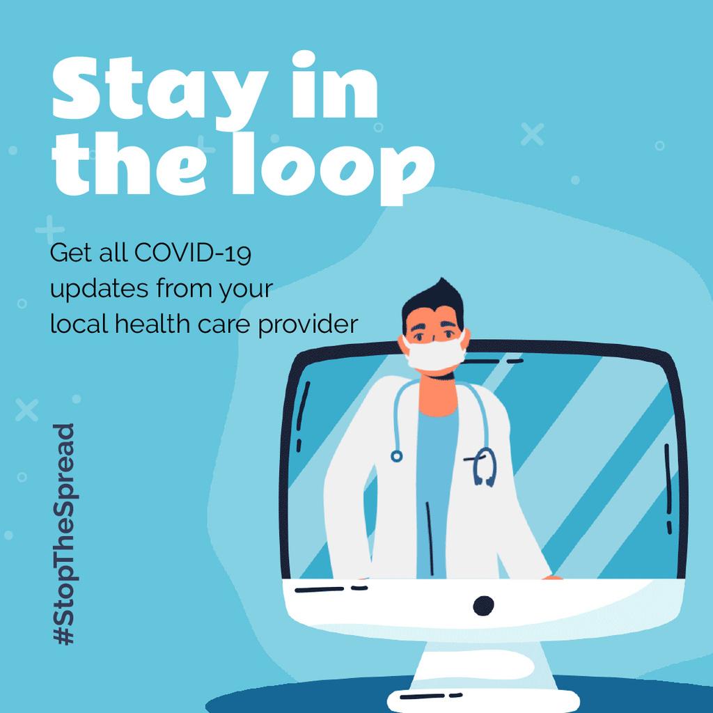 #StopTheSpread Coronavirus awareness with Doctor's advice — Crear un diseño
