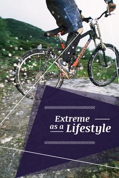 extreme lifestyle poster with man riding bicycle