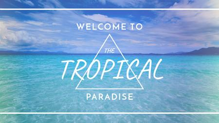 Template di design Tropical Vacation Offer with Blue Sea View Youtube