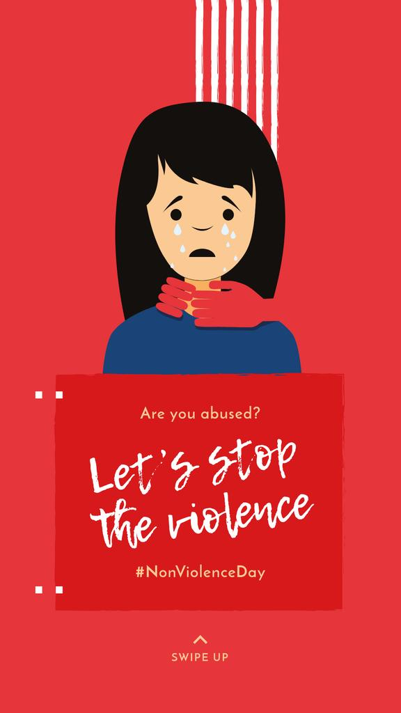 Crying Woman for Non Violence Day — Створити дизайн