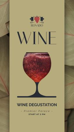 Template di design Red Wine Pouring in Glass Instagram Video Story