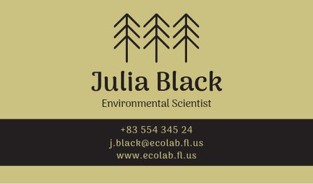 Plantilla de diseño de Environmental Scientist Services Offer Business card