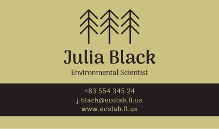Environmental Scientist Services Offer Business card Modelo de Design