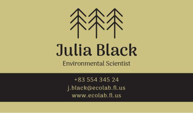 Environmental Scientist Services Offer Business card Tasarım Şablonu