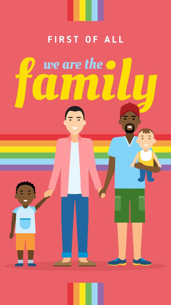 LGBT parents with children — Maak een ontwerp