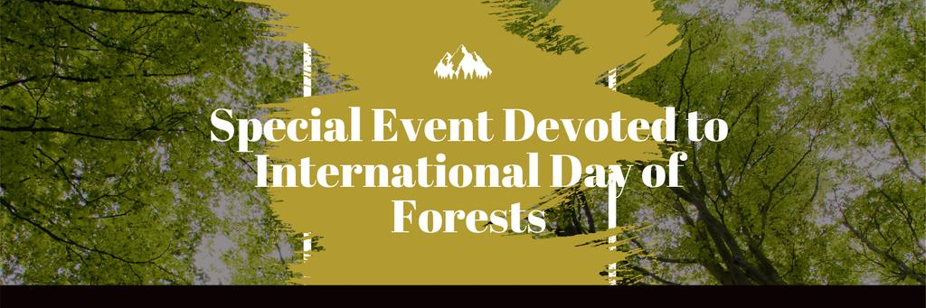 International Day of Forests Event Tall Trees —デザインを作成する