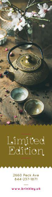 Designvorlage Tableware Ad Chinese Teapot and Cups für Skyscraper