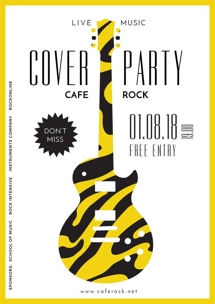 advertisement poster for cover party — Создать дизайн