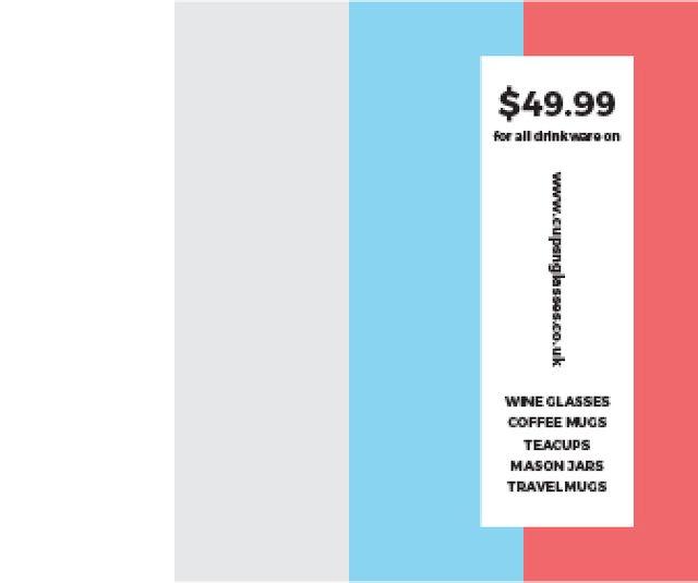 Drinkware for all shop Large Rectangle – шаблон для дизайну