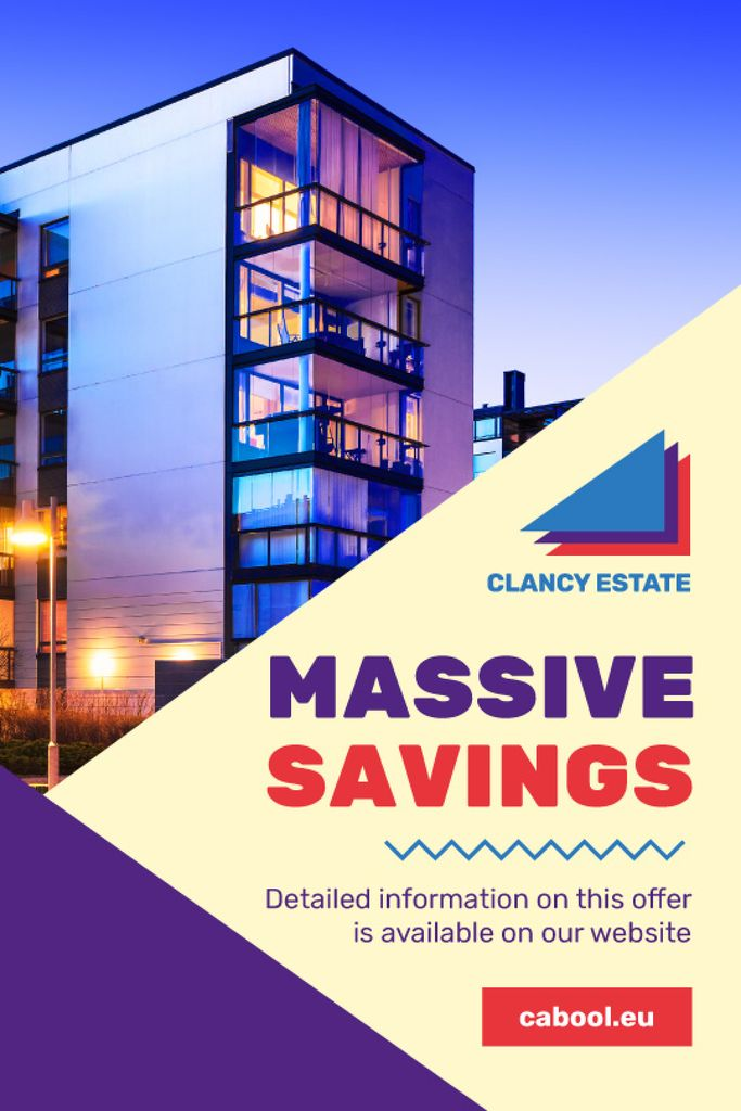 Real Estate Ad with Modern Building | Tumblr Graphics Template — Créer un visuel