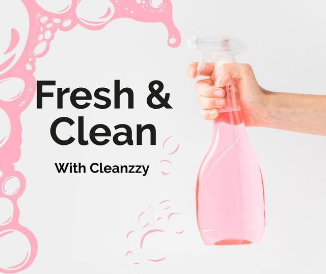 Hand Cleaning with spray Facebook – шаблон для дизайна