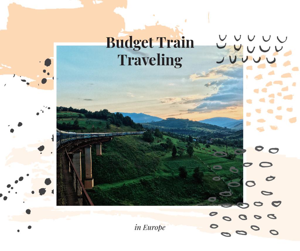Railways in nature landscape — Створити дизайн
