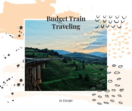 Template di design Railways in nature landscape Facebook