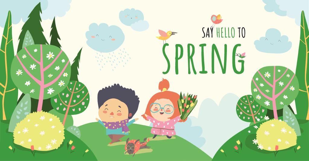 Couple in spring garden — Crear un diseño