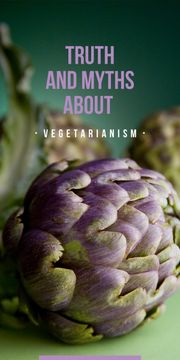 truth and myths about vegetarianism poster