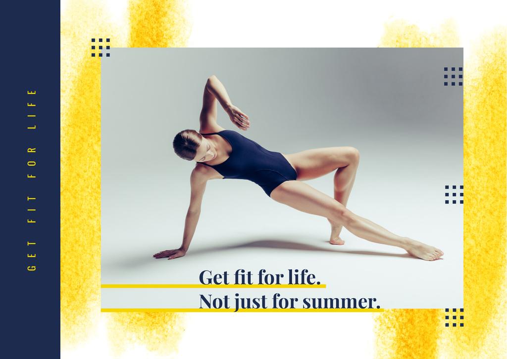 Sport Inspiration Passionate Professional Dancer — Create a Design