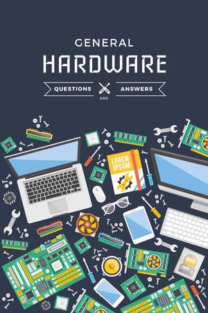 General hardware Ad with Gadgets Pinterest Tasarım Şablonu