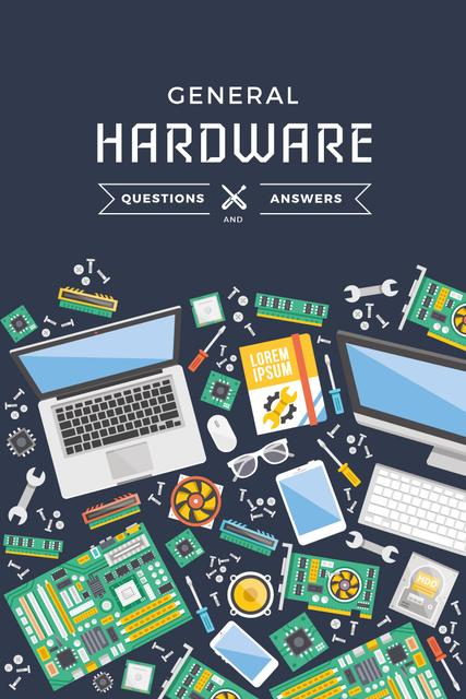 General hardware Ad with Gadgets Pinterestデザインテンプレート