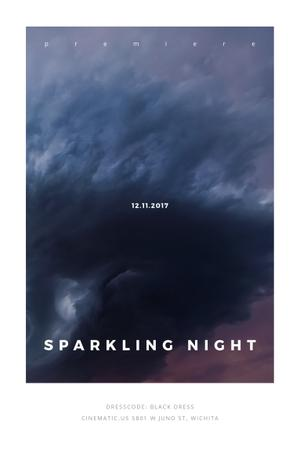 Plantilla de diseño de Sparkling night event Announcement Pinterest