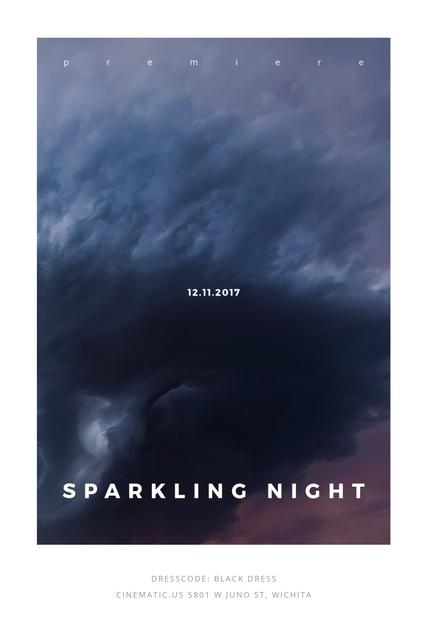 Ontwerpsjabloon van Pinterest van Sparkling night event Announcement