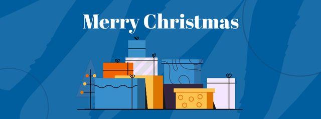 Plantilla de diseño de Cat jumping by Christmas gifts Facebook Video cover