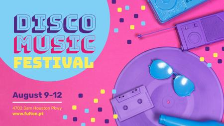 Plantilla de diseño de Music Festival announcement colorful Party Attributes FB event cover