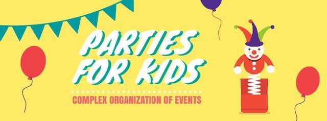 Plantilla de diseño de Jumping Jack toy at kids' Party Facebook Video cover