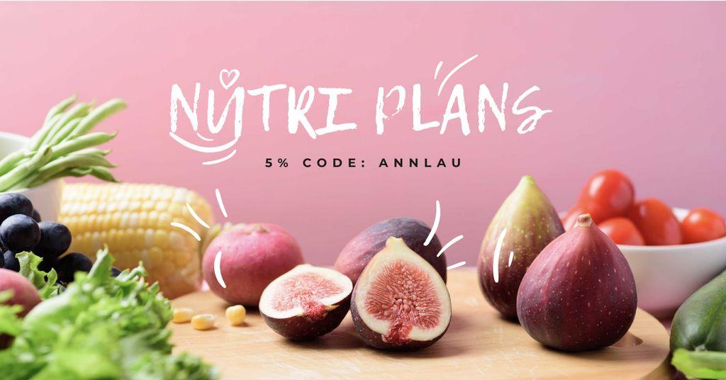 Nutri Plans offer with fresh groceries — Modelo de projeto