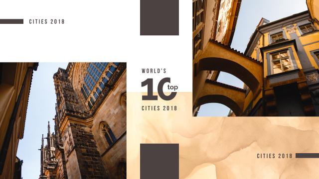 Plantilla de diseño de Old city buildings Youtube