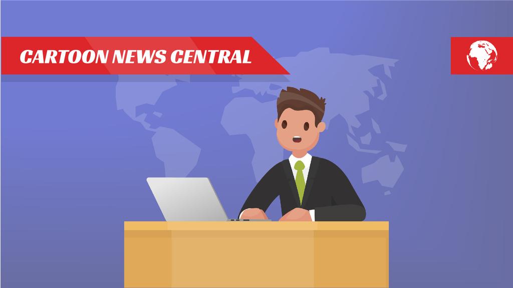 Newscaster in the Television Studio — Maak een ontwerp
